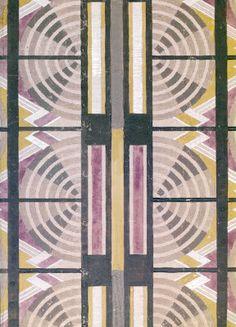 "George Walton (1867-1933), ""The Grill,"" 1930. Design for tapestry"