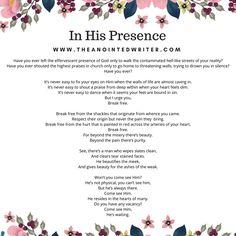 poem image in his presence