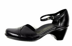 Dansko Roxy MaryJane 8.5-9 US/39 Black Leather Ankle Strap Clogs Pumps Heels #Dansko #PumpsClassics