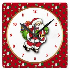 Santa Wall Clock by elenaind