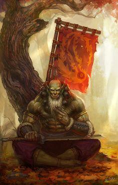 剑圣, Fantasy Creatures Orc Swordmaster Lantressor the Blade . Orc Warrior, Fantasy Warrior, Fantasy Rpg, Fantasy World, Dark Fantasy, Fantasy Artwork, Dnd Characters, Fantasy Characters, Character Concept