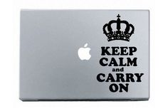 keep-calm-carry-on macbook decal sticker