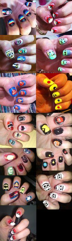 Nerd nails