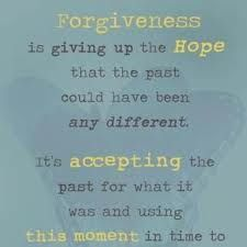 On my journey towards forgiveness...to be free.