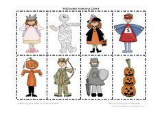 Carrie's Speech Corner:  Not 1, but 2 Halloween Printable Games (Memory Match & I Have, Who Has)