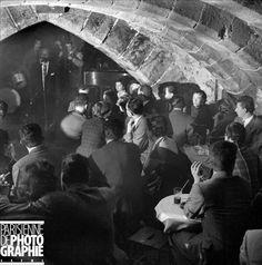 Les Trois Mailletz,   56 rue galande, Paris 5e  Haut lieu de Jazz de l'après guerre jusqu'aux années soixante