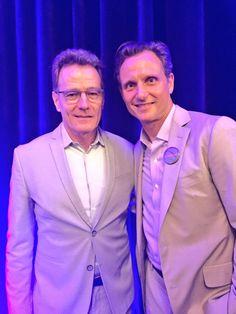 Tony Goldwyn and Bryan Cranston at DNC in Philadelphia