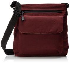 Derek Alexander NS Top Zip, Burgandy, One Size