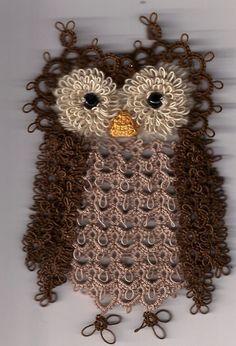 The Owl and the Pussycat Crochet Owls, Crochet Doilies, Knit Crochet, Needle Tatting, Tatting Lace, Owl Crafts, Yarn Crafts, Doily Patterns, Crochet Patterns