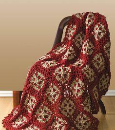 Flower Throw Crochet Afghan ⋆ Crochet Kingdom