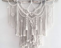 Medium Macrame Wall Hanging // tapestry // macrame by theDopeRope