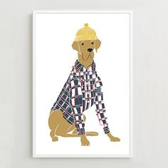 Dapper Dog Art Prints by Rachel Kozlowski for West Elm