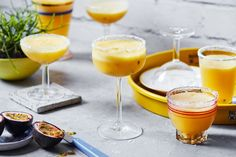 Toast to the weekend with these frozen passion-pine margaritas Tequila Based Cocktails, Margarita Cocktail, Margarita Recipes, Cocktail Recipes, Drink Recipes, Pineapple Syrup, Pineapple Margarita, Slushie Machine, Tequila Day