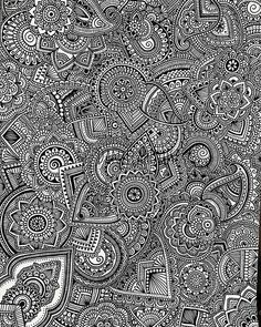 Image in Art collection by Katalin Puha on We Heart It Doodle Art Drawing, Mandalas Drawing, Zentangle Drawings, Zentangles, Doodle Patterns, Zentangle Patterns, Zantangle Art, Dibujos Zentangle Art, Line Doodles