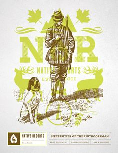 Student Work: Brian Rau: Native Resorts Identity
