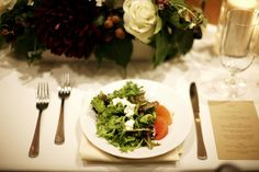 Our summer baby greens salad never looked so good! Ravishing Radish Catering | Belathee Photography