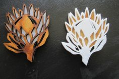 Two Tone Protea Brooch  by Net 'n Kameel