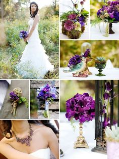 Purple Passion. Didn't realize how much I love purple(s) until I saw this wedding on SMP!