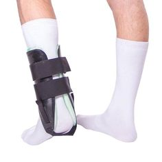 Ankle Air Stirrup Brace with Compression Pump for Sprains & Inversions