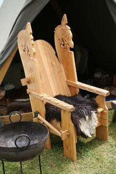 Gorgeous Viking Chair - Gudvangen 2009 (vikingsnitt)