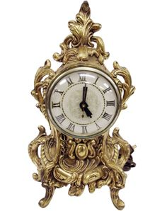 Vintage Baroque Style Footed Brass-tone Electric Mantel Clock. #shopgoodwill #goodwill #auction