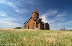 Saghmosavank Monastery (a 13th century building) near town of Ashtarak, ARMENIA