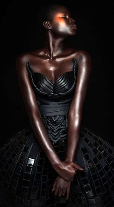 blackandkillingit: cosaan: Her skin is incredible Black Girls Killing It Shop BGKI NOW That dress! Her skin is flawless!