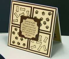 Pet Sympathy by indycurt - Cards and Paper Crafts at Splitcoaststampers