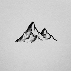 mountain simple drawing stippling been easy drawings sketch outline doodle visit neat slowly stippled turning career few into