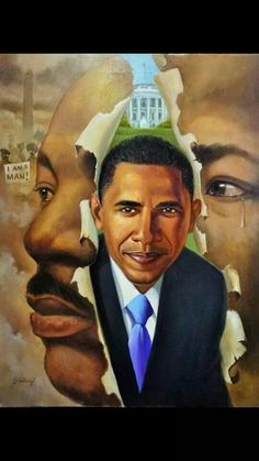 A fitting representation of two Black men who overcame the odds and made a Gigantic difference in the History of Black people.  L.M. Ross
