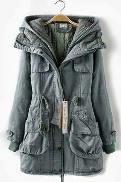 Multi-pocket coat, super warm, only $49.99!