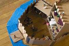 Cardboard Castle - kids can still have fun without all the high-tech toys