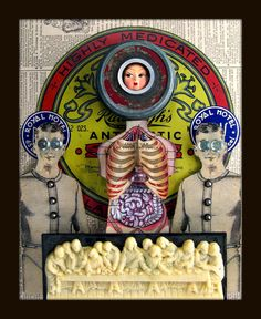 I love this attractively creepy assemblage/mixed media collage using old photos, by Greg Hanson. The rest of his work is well work checking out as well, if you follow the link from the pinned image!