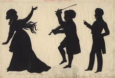 Silhouettes - Extremely Rare Double-Sided Silhouette with Background from an Unrecorded Edouart Folio - 3 - Peggy McClard Antiques - Americana & Folk Art