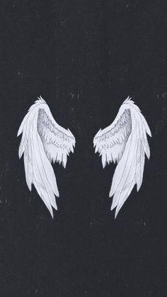 Dark Angel Wallpaper, Wings Wallpaper, Dark Wallpaper Iphone, Neon Wallpaper, Black Wallpaper, 1080p Anime Wallpaper, Hacker Wallpaper, Edgy Fonts, Lucifer Wings