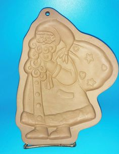 Brown Bag Cookie Art Mold 1989 #SantaClaus #KrisKringle #StNick #CookieMold #brownbagcookieart Holiday Themes, Brown Bags, Fourth Of July, St Patricks Day, Hanukkah, Fathers Day, Handmade Jewelry, Santa, Easter