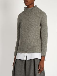 Roll-neck cashmere and mohair-blend sweater   S Max Mara   MATCHESFASHION.COM UK