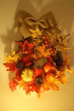 Couronne de bienvenue d'automne