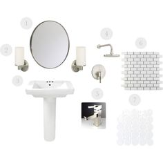 You've seen our choices for the bathroom upstairs...here are our picks for the basement bath (w/ prices + suppliers)