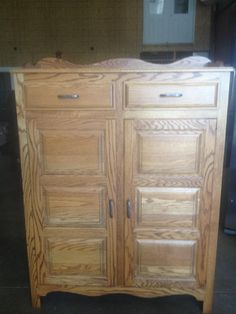 Antique Pie Cabinet and Small End Table