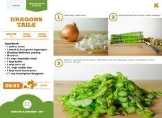 Green Asparagus risotto, aka Dragons Tails from veggirider.com