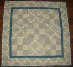 Quilted Table Topper Shabby Chic Cottage Chic Quilt by HollysHutch, $81.25