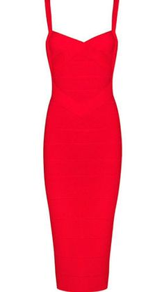 Callie Red Bandage Dress