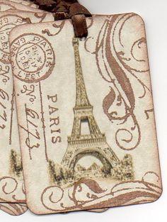 Vintage Paris Print Tag