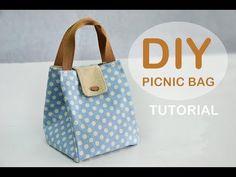 Source by bhzrad tutorial Bag Pattern Free, Bag Patterns To Sew, Pouch Tutorial, Diy Bags Tutorial, Diy Sac, Potli Bags, Denim Tote Bags, Picnic Bag, Fabric Bags