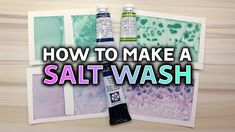 SALT WASHES WITH WATERCOLORS  Quick Art Tip https://youtu.be/NS02JxwmUac  All about how to use salt washes with watercolors to create texture! I demonstrate two different kinds of salt and how the paint acts differently based on the salt type and whether its granulating or not!  SUPPLIES: Bee Paper Cold Press Watercolor Paper 140lb. M. Graham Watercolor Paint  Permanent Green Pale & Phthalo Blue Daniel Smith Watercolor Paint  Moonglow    Website. http://leysketch.net Shop…