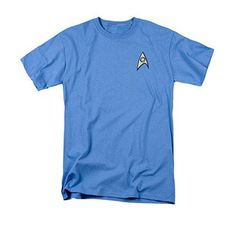 Star Trek TOS Science Uniform Costume Blue T-Shirt