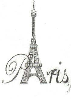 eiffel tower tattoo - Google Search. Would be cute on shoulder or behind ear