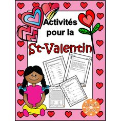 La St-Valentin - activités amusantes Multiple printable worksheets that target vocabulary from Valentine's Day in French. French Teaching Resources, Teaching French, Teaching Ideas, French For Beginners, French Worksheets, Saint Valentine, Valentines, Core French, French Teacher
