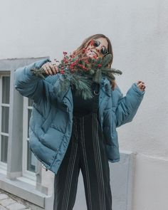Light Before Dark Blue Pillow Puffer Jacket | Urban Outfitters | Women's | Coats & Jackets via @tobruckave #UOEurope #UrbanOutfittersEU #UOonYou